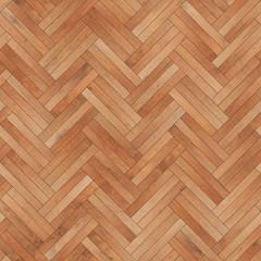 Obraz Seamless wood parquet texture herringbone light brown - fototapety do salonu