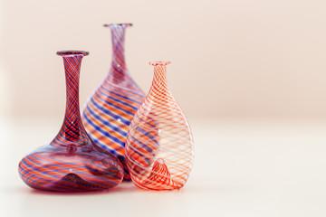 Obraz Glass vase - composition with glass vases - fototapety do salonu