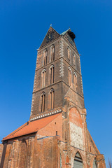Fotomurales - Tower of the St. Marien church in Wismar, Germany