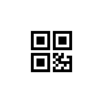 Scan QR code small icon. Clipart image isolated on white background