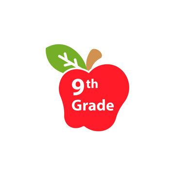 9th Grade level icon. Clipart image isolated on white background
