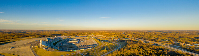 Kentucky Speedway aerial wide angle panoramic photo