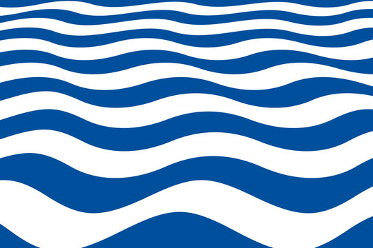 Abstract pattern with blue wavy sailor stripes in perspective angle