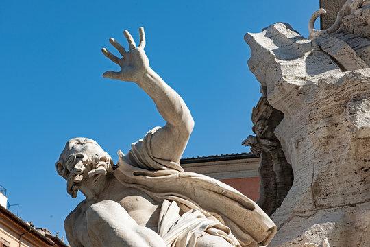 Vierströmebrunnen von Gian Lorenzo Bernini, Piazza Navona, Rom, Italien