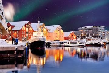 Tromsø, Norway -view of the port.