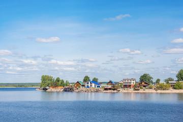 Village on the banks of the Volga in Tatarstan