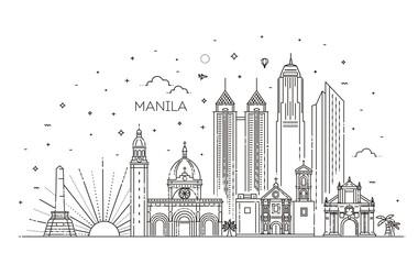 Manila Philippines City Skyline