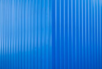 Fototapeta Full Frame Shot Of Blue Corrugated Iron