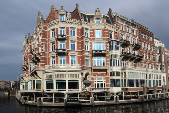 Historical building in Amsterdam, Holland