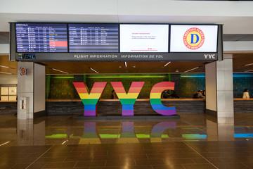 Calgary International Airport on August 30, 2017.