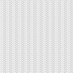 Seamless rib knit gray pattern. Handycraft background