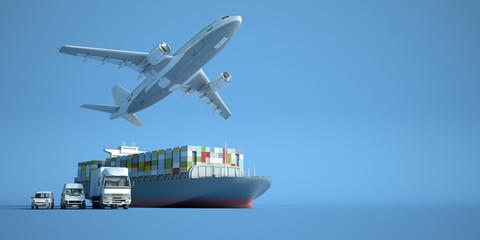 Transportation logistics Fototapete
