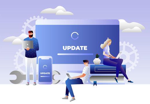 System update illustration concept