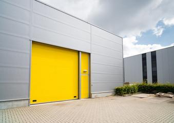 yellow roller door