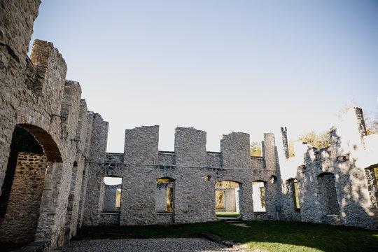 Castle ruins in guelph ontario