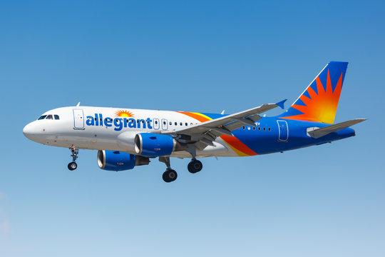 Allegiant Air Airbus A319 airplane