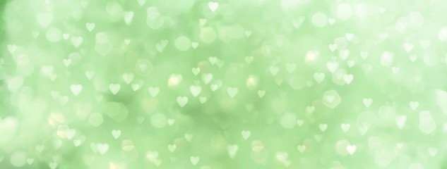 Fototapete - abstract green background with many hearts