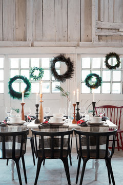 Winter Table Setting