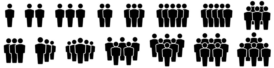 Team icons set. People .Group of people icons. Vector illustration