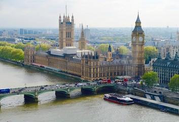 Keuken foto achterwand London Aerial View Of Bridge And Big Ben
