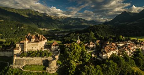 The medieval village of Gruyeres, Switzerland