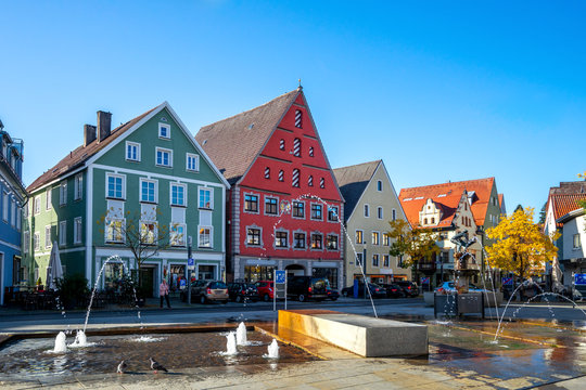 Schrannenplatz, Memmingen, Deutschland