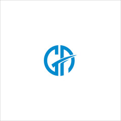 GA G A Letter Logo Design with Creative Modern Trendy