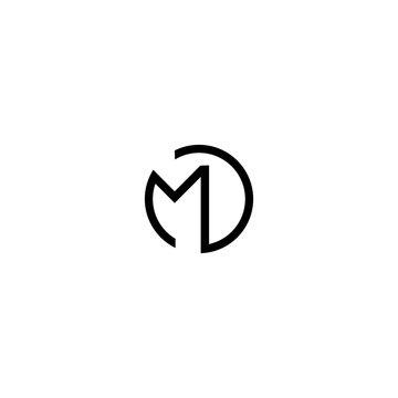 MD M D initial logo design template