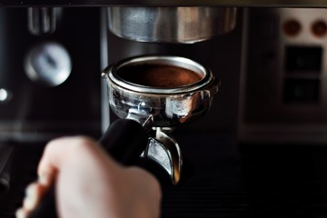 Photo sur Toile Musique Close-Up Of Hand Holding Coffee