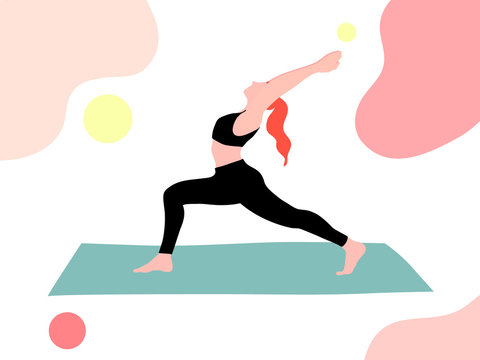 woman doing yoga for healthy lifestyle