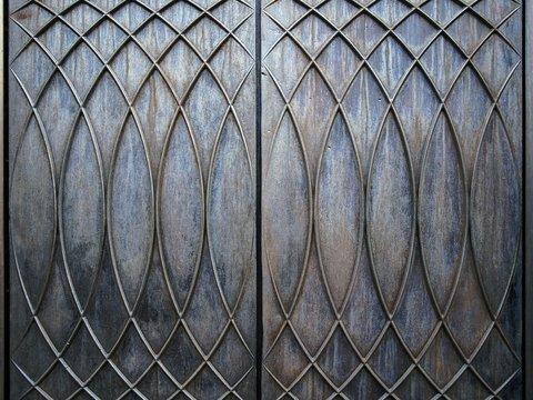 Close Up Of Metal Gate