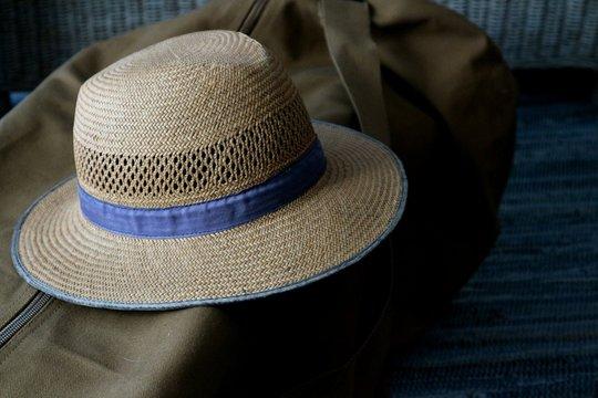 Close-Up Of Hat On Bag