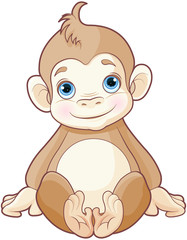In de dag Sprookjeswereld Baby monkey