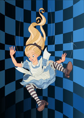 Canvas Prints Fairytale World Falling Alice