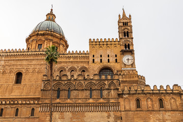 Italy, Sicily, Province of Palermo, Palermo. The Cathedral of Palermo, a UNESCO World Heritage Site, constructed in 1184.