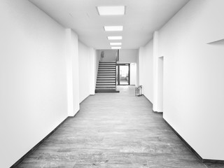Fototapeta Empty Corridor In Building