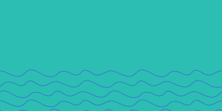 Water lines blue on blue border, seamless repeat vector surface pattern design