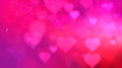 Wall Mural - Happy Valentine theme decoration motion particles animation with drop down graphic icons associated with Valentine theme background