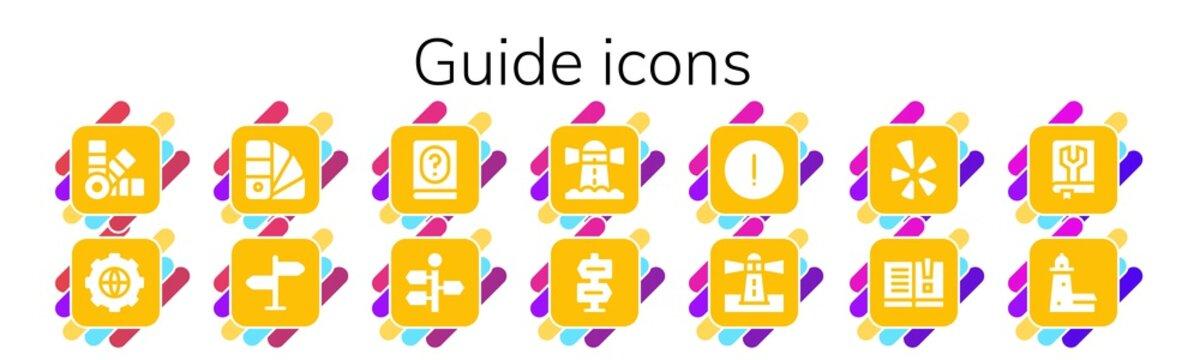 guide icon set