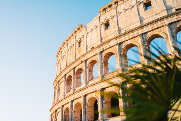 Foto op Textielframe Rome Rome, Italy - Jan 2, 2020: The Colosseum in Rome, Italy