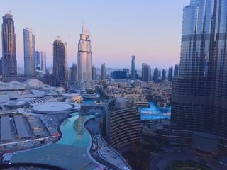 Tuinposter Dubai AERIAL VIEW OF A CITY