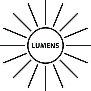 lumen icon, vector illustration.