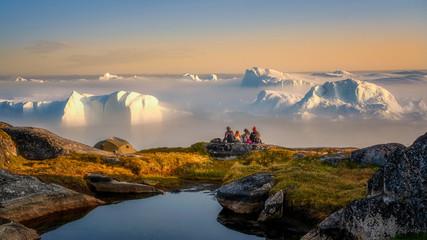 Greenland Ilulissat glaciers at ocean