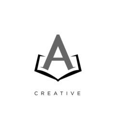 book abstract logo