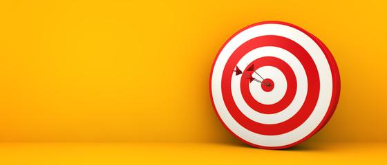 bullseye on yellow background Fotomurales