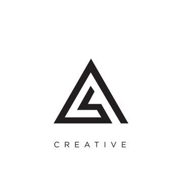 a triangle logo  design vector