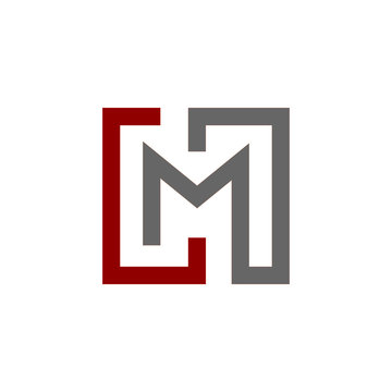 lm logo design line art