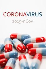 Coronavirus treatment concept. 2019 nCoV Coronavirus originating in Wuhan, China.