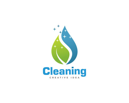 Home Cleaning Services Logo Design Vector