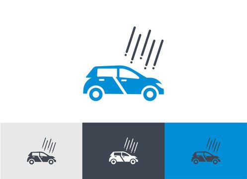 Hail Damage protection Icon vector - Car Hail Damage safety sign